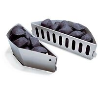 """Weber Charcoal Wood Chunks Briquet Holders Char-Basket 2pc for 22"""" BBQ Grills"""