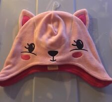 Gymboree Pink Fleece 2t/3t Toddler Girls Kitty Winter Hat