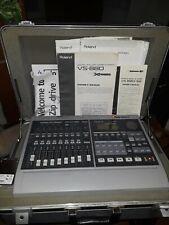 VINTAGE ROLAND VS-880 DIGITAL 8-Tk STUDIO WORKSTATION w/VS8F-1FX+PAPERWORK&CASE