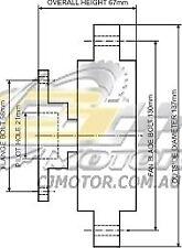 DAYCO Fanclutch FOR Ford Courier Jan 1986 - Dec 1987 2.0L 8V OHC Carb FE