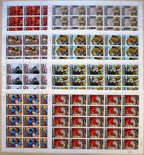 25 x Gibraltar 2015 Mi. 1661-68 ** MNH Feuerwehr Fire Service kpl. Bogen 385,-€