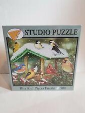 Bits And Pieces Winter Treats 500 Piece Puzzle Birds