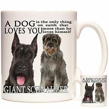 GIANT SCHNAUZER Mug Can be personalised. Matching Coaster Available