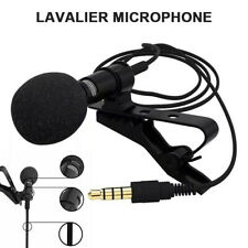 3.5mm Lavalier Lapel Microphone Clip-on Condenser Mic For iPhone  Android Phone