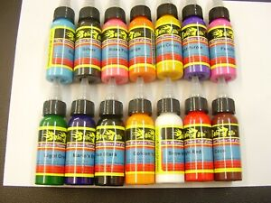 Tattoo ink set 14 x 1oz bottles ,nice ink, tattoo machines ,power supply