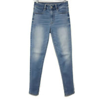 American Eagle Womens Size 2 Blue Hi Rise Jegging Jeans Super Stretch Light Wash