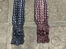 Genuine Crocodile hide skin leather Craft Supply 4 colors