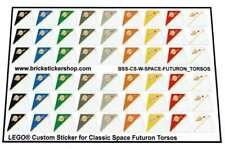 Replica Pre-Cut Stickers for Lego® Classic Space Futuron Torsos