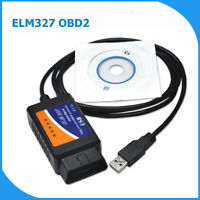 ELM327 OBD2 USB Interface Cable SCANNER RESET TOOL with FREE WINDOWS SOFTWARE UK