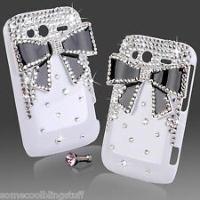 Cool 3d Bling Blanco Negro Diamante Funda 4 Blackberry 9350 9360 9370 Curve