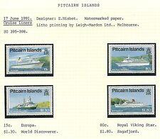 Islas Pitcairn-SG395-98 - Cruceros-estampillada sin montar o nunca montada