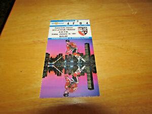 "1991 NHL ALL STAR GAME FRIDAY  ""NHL HEROES GAME"" TICKET STUB -1/18/91"