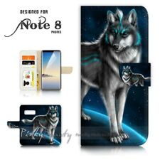 ( For Samsung S10 ) Wallet Flip Case Cover P21375 Wolf