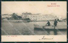 Brindisi Città Capitaneria di Porto Barca cartolina XB0759