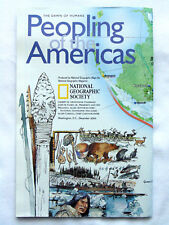 National Geographic Society The Dawn of Humans: Peopling of the Americas Map