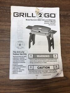 Grill 2 Go RED 465611003 465621303 Owners Manual Official OEM Replacement