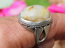 antik orient silber Afghanistan  Achat statement ring  AQEEQ Nr:17/461