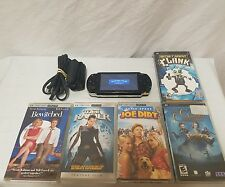 Sony PSP 1001 System w/Charger & Memory Card 2 games 3 movie Bundle TESTED WORKS