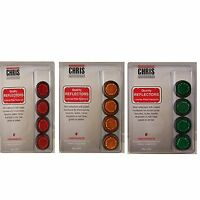 Chris Products Mini Reflectors 4 Pack Red, Green, or Amber Towing Tow Trailer