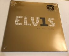 ELVIS PRESLEY - 30 NUMBER 1 HITS RARE GOLD COLOURED SEALED VINYL RECORD
