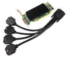 512mb MATROX M9140 LP PCIe x16 DDR2 m9140-e512laf High Perfil incl. Cable 4x DVI