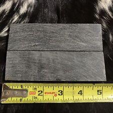 2pcs 5� Natural Black Buffalo Horn Knife Scales Diy Knife Making Handle Material