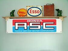 HONDA RSC – retro motorcycle racing garage or workshop pvc banner / sign