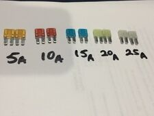 Micro II Fuse Assortment 10 Pieces Micro2 5A 10A 15A 20A 25A ATR