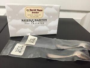 "Vintage Silverplate Reed & Barton ""Colonial"" Baby Spoon Fork Set Orig Box & Pkg"