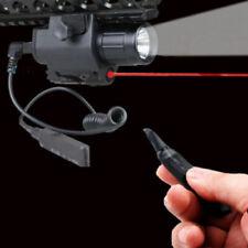 Hunting CREE Q5 LED Flashlight & Red Laser Sight Combo 20mm Rail
