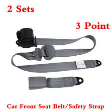 Car 3 Point Auto Retractable Safety Strap/Seat Belt Buckle Accessories 2 Sets