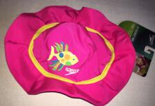 Speedo Baby Girl L/Xl Fish Design Pink Bucket Swim Hat 12M/24M Nwt Upf 50+