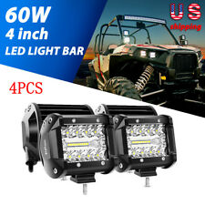 "4X 4"" Inch Spot Pods LED Work Lights Bar 60W OffRoad Trucks Fog Driving Lamp 4X4"