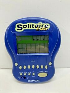 Radica Solitaire Lite 1997 Backlit Handheld Travel Electronic Game Workin! Blue