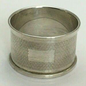 Vintage Sterling Silver Serviette Napkin Ring 1974
