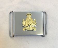 Intelligence Corps Cap Badge Belt Buckle, Silver Chrome, Army, Military, Int