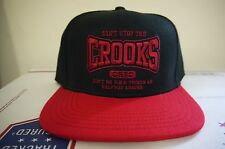 Can't Stop the Crooks Snapback Adjustable Cap Black/Red Brand New with Tags