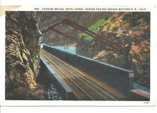 Denver & Rio Grande Western Railroad Hanging Bridge Postcard Royal Gorge