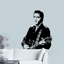 Elvis Presley Wall Stickers 3D Decal Wallpaper Mural Art Play Guitar Decor Home