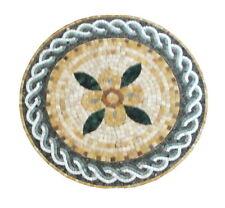 "20"" Round Marble Mosaic Tile Art Stone Floral Decor Medallion Marble Mosaic"