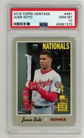 2019 Topps Heritage JUAN SOTO All-Star Rookie SHORTPRINT SP #481 -- PSA 10 GEM