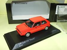 VW GOLF GTi PIRELLI 1983 Rouge MINICHAMPS 1:43