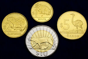 Uruguay 10 to 1 Peso 2012 - 2015 UNC Set - 4 pcs (GLCS-003)