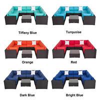9 PCS Patio PE Rattan Wicker Sofa Sectional Outdoor Furniture Set 6 Style
