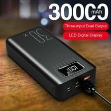 30000mah Dual Usb Portable External Battery Portable Power Bank Battery Type-C
