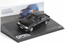 1983/1984 OPEL KADETT D GT/E BLACK NERO 1:43 Ixo Altaya Collection