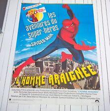 RARE!! Affiche du film L'HOMME ARAIGNÉE SPIDER-MAN - SWACKHAMER 120X160