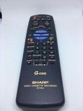 GENUINE ORIGINAL SHARP ( G0133AJ ) VIDEO CASSETTE RECORDER REMOTE CONTROL
