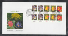 Germany 2007 se-tenant sheet flowers of the beautiful FDC