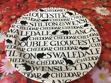 "Emma Bridgewater Black Toast Cheese 13"" Cake Plate Discont Best New"